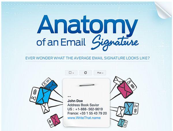 Анатомия email подписи