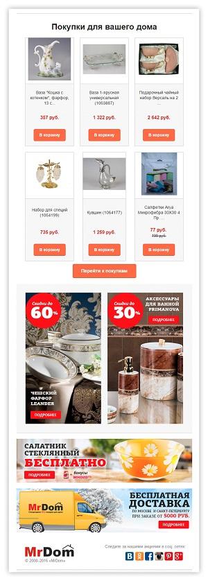 Growth hacking в триггерных письмах интернет-магазина mrdom.ru: рост конверсии на 40%
