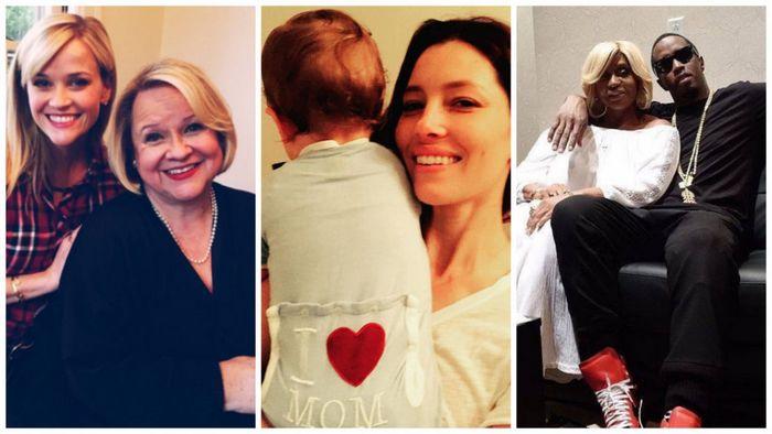 Как голливудские звезды отмечали день матери: фото