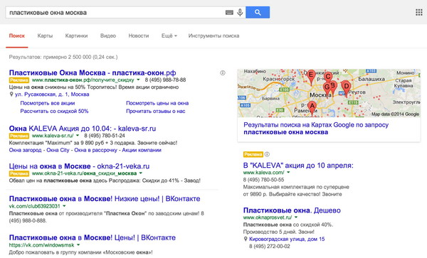 Как google оптимизируют кликабельность adwords?