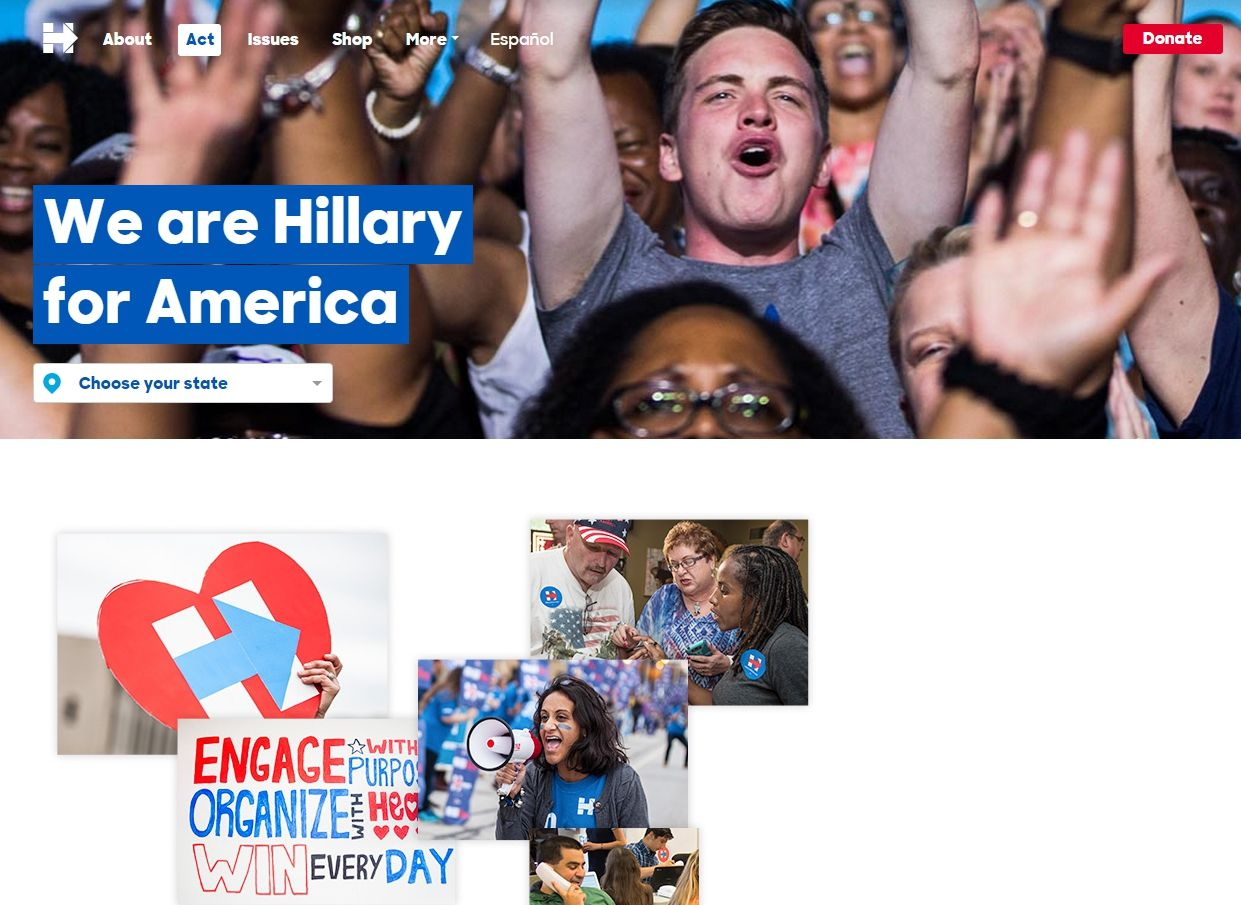 Лендинг для президента: интернет-маркетинг хилари клинтон