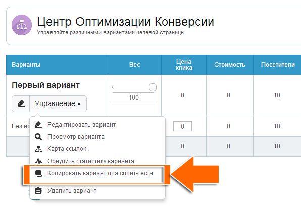 "Сплит-тест как стратегия ""пост-клик маркетинга"" (post-click marketing)"