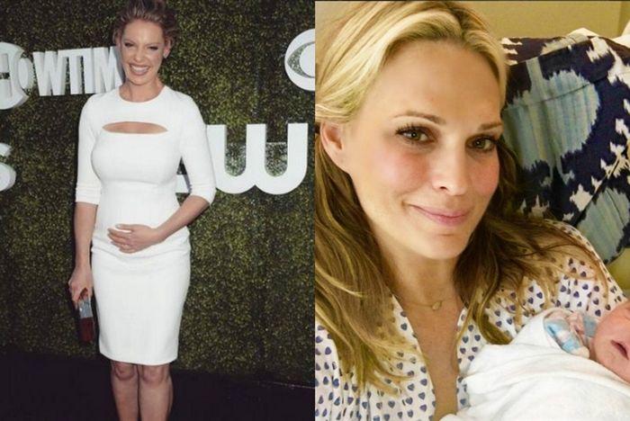 Стало известно, что кэтрин хейгл родила, а молли симс показала фото новорожденного сына