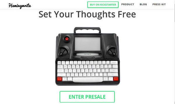 Стартап hemingwrite: новая концепция печатных машинок для поколения миллениалов